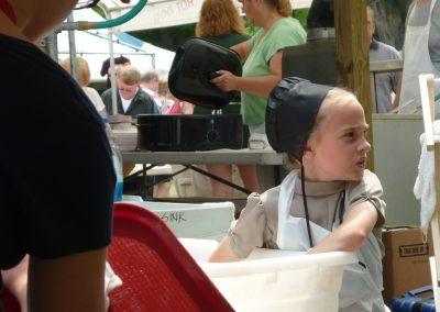 Young Amish Volunteer Mespo Ox Roast